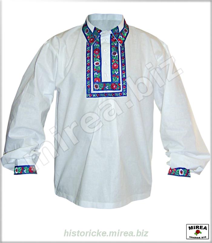 02f361472 ĽUDOVÉ ODEVY » Folklórne košele. Folklórna košeľa bavlnená zdobená -  (FK-01ba-z2)