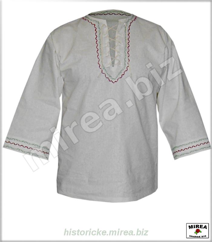 b9baaf882 ĽUDOVÉ ODEVY » Ľudové košele. Ľudová košeľa ľanová vyšívaná - (LK-03la-v)